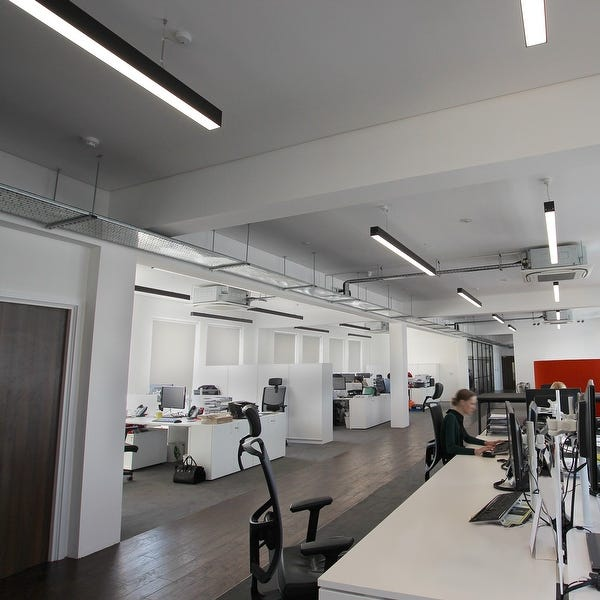 office led suspended linear fixture