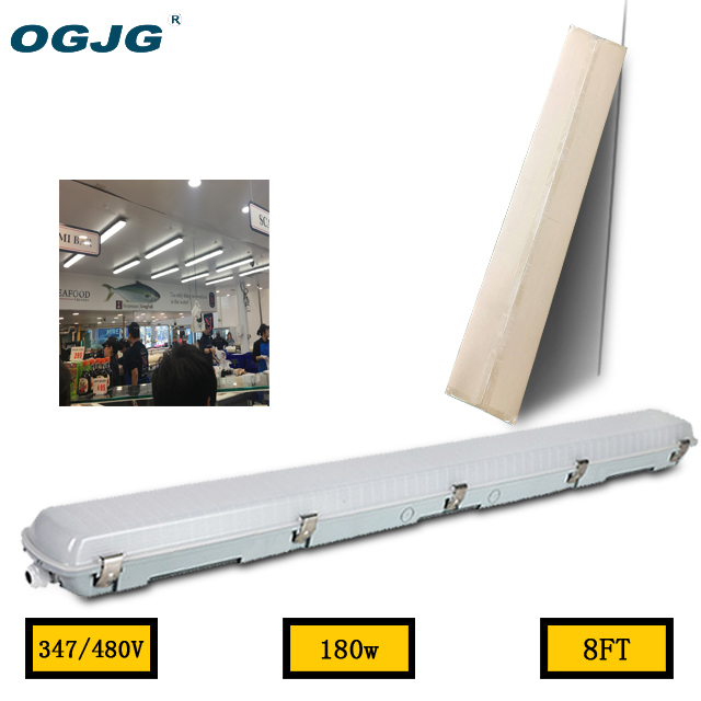 8FT 180W 100-277V 347V IP66 LED triproof light