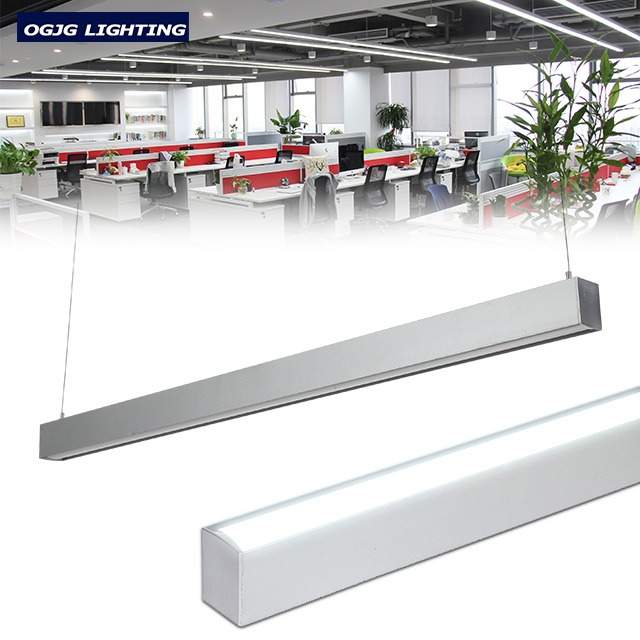 customized dimmable suspended office linear light