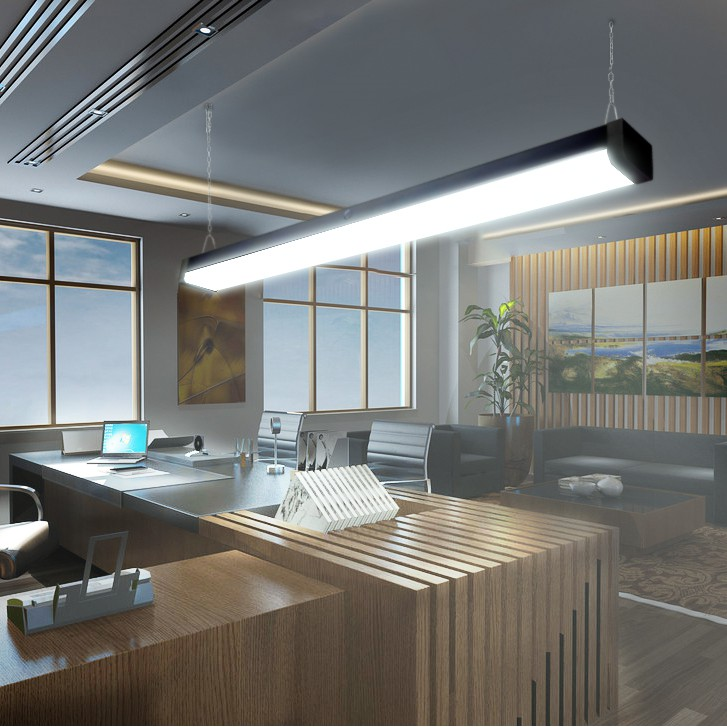 Office building linear lighting